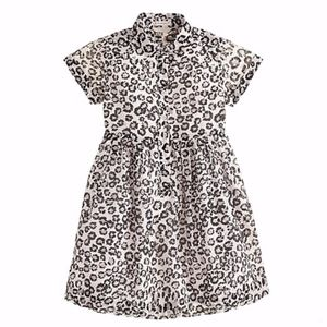 J.CREW GIRLS' SHIRTDRESS IN LEOPARD. SIZE: 12.